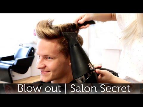 Professional Men's Blow Out Tutorial | Slikhaar Studio Salon Secret