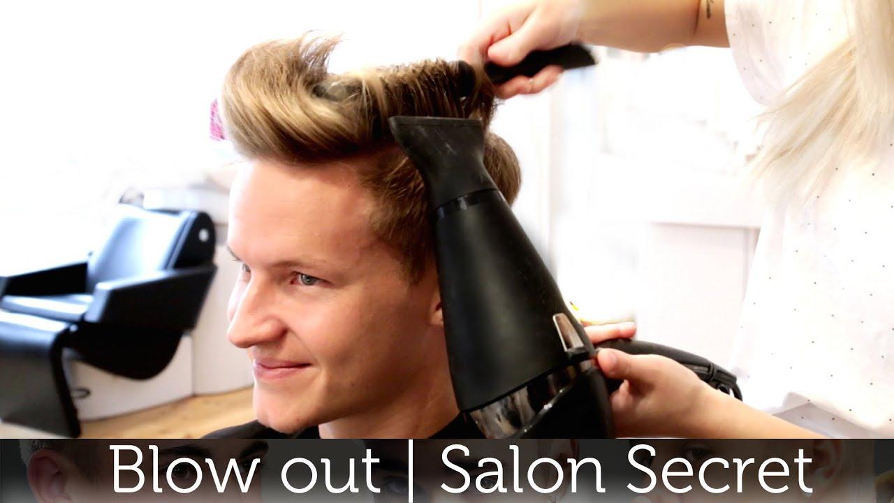 Professional Mens Blow Out Tutorial Slikhaar Studio Salon Secret