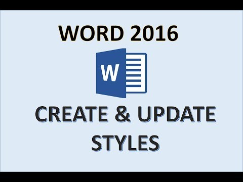Word 2016 - Modifying Styles - How To Modify A Style In Microsoft MS - Create Update & Apply MS 365