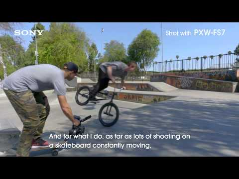 SONY PXW-FS7 Interview video of BMX cameraman for NAB2015 (OFFICIAL)