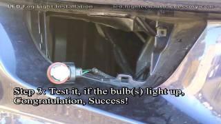009 led driving fog light bulbs installation for h8 h9 h10 h11 9145 9005 9006