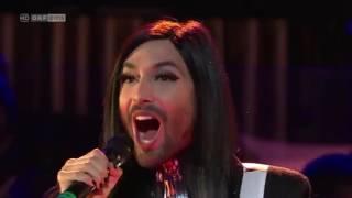 Conchita Wurst Firestorm at Sydney Opera House