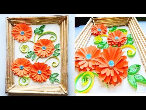 Wall hanging making Tutorial // Best out of waste ideas thumbnail