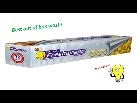Aluminium Foil Paper Box Craft Idea | Best out of waste silver foil box | DIY Recycle Craft |