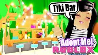 CUSTOM Tropical TIKI BAR Tutorial Build in ADOPT ME! Meubles tropicaux Roblox