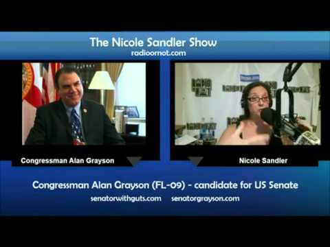 11-24-15 Nicole Sandler with Congressman Alan Grayson