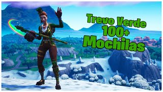 SHOWING THE SARGENTA GREEN CLOVER SKIN & 100 + BACKPACKS | FORTNITE