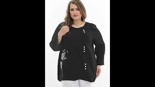Дизайнерская блузка из новой Коллекции дизайнерской женской одежды больших размеров ТМ Maria Dagmar