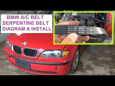 Bmw E46 X3 X5 E39 Serpentine Belt and A/C Belt Install Belt diagram