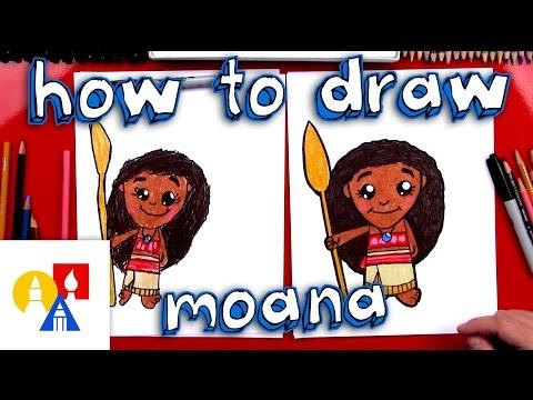 How To Draw A Cartoon Moana