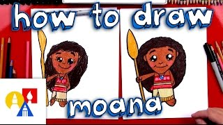 How To Draw A Cartoon Moana