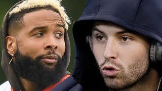 Baker Mayfield BLASTS Giants Fans For How They Treated Odell Beckham Jr !