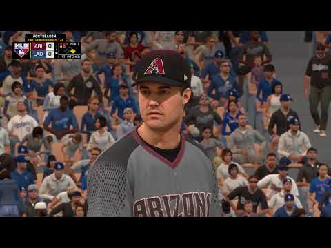 MLB The Show 17 PS4 NLDS Game 2 Arizona Diamondbacks vs Los Angeles Dodgers 10 07  2017