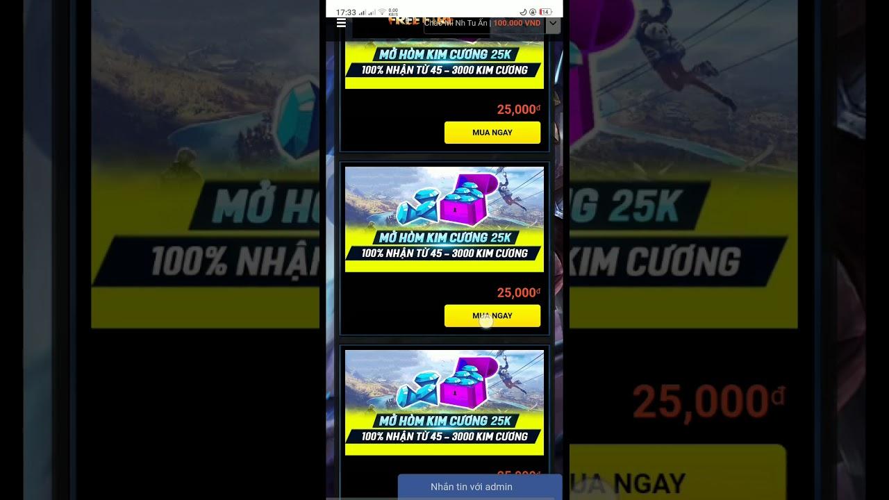 [Free File] thử vận may mở hòm kim cương 25k tại shop accgame24h.com và cái kết