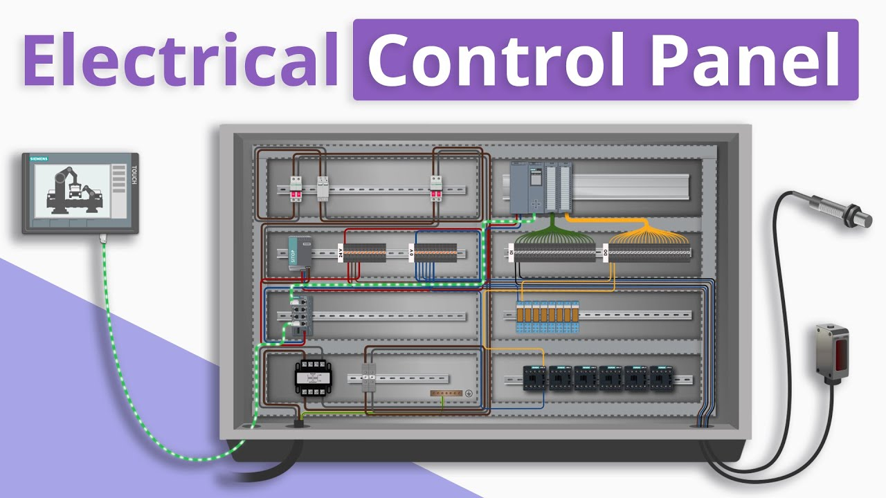 hight resolution of  realpars electricalcontrolpanel plc