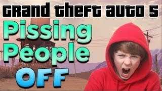 Pissing people off on GTA 5! - (Ignition bomb TROLLING 2)