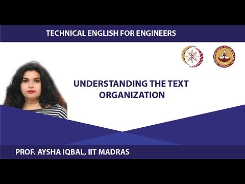 Lecture 24 - Understanding the text organization