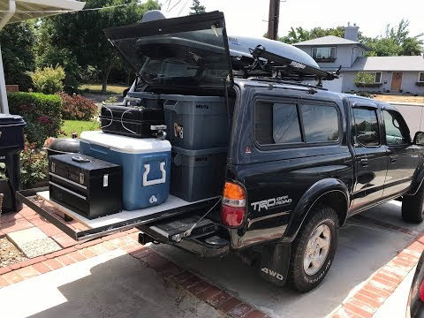 DIY truck bed slide for 2001 Toyota Tacoma