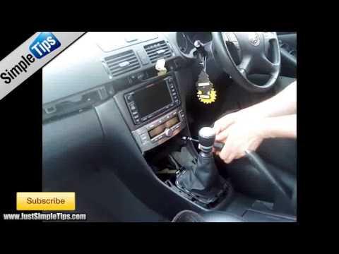 Radio Removal Toyota Avensis 20022008  JustAudioTips