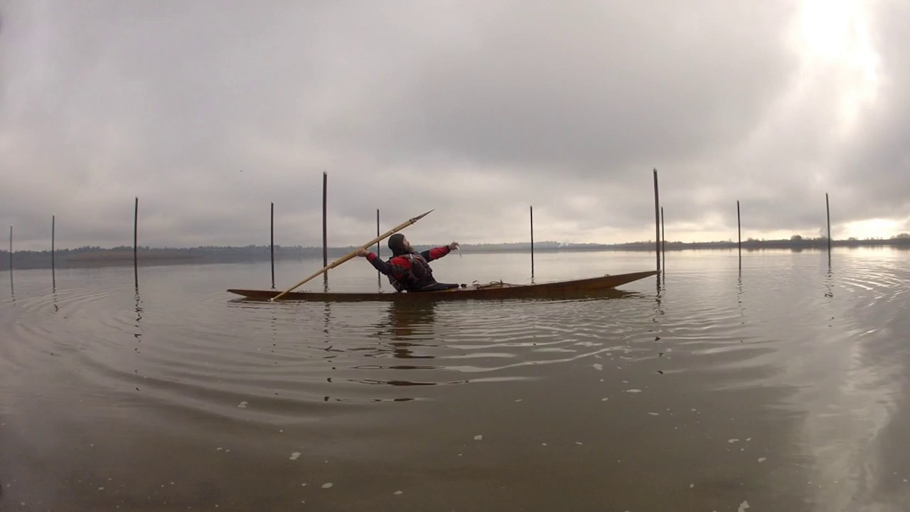 Harpoon Throwing From A Greenland Kayak