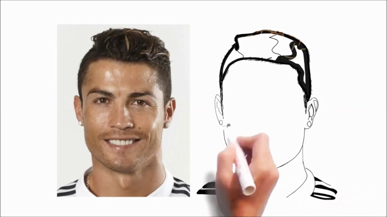 Begini Cara Menggambar Ronaldo Beserta Brewoknya Youtube