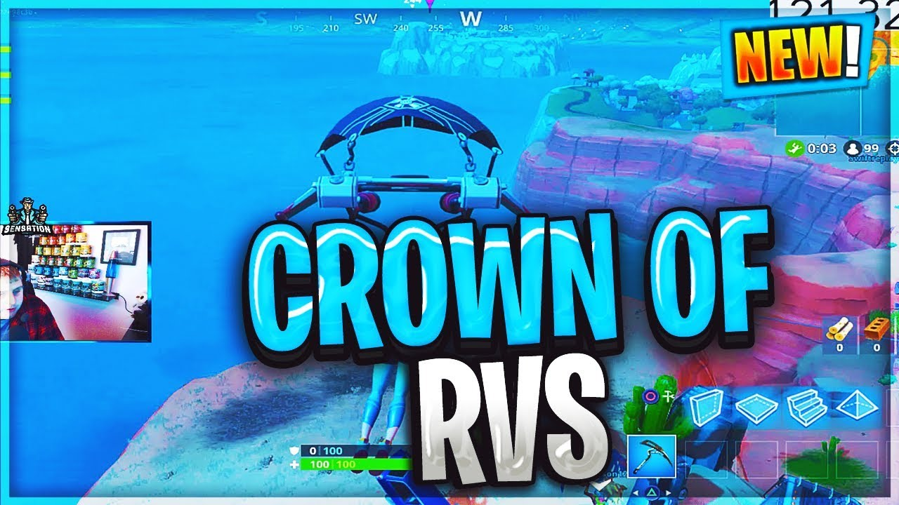 Fortnite Dance On Top Of A Crown Of Rv S Location Guide Season 7