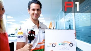 F1 Drivers get arty - Adrian Sutil