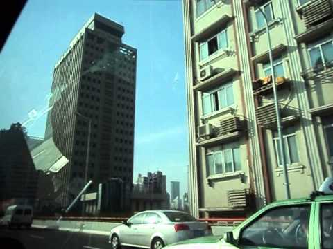 Shanghai Highway, Taxi Ride 上海の高速道路