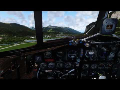 PREPAR3D v4 - DOUGLAS C-47 DC-3 Radio Navigation from LOWI Innsbruck Airport
