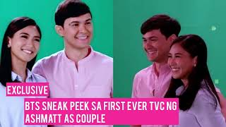 Exclusive: BTS sneak peek sa first ever TVC ng AshMatt as couple