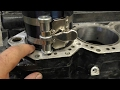 Installing the Evinrude 150 pistons