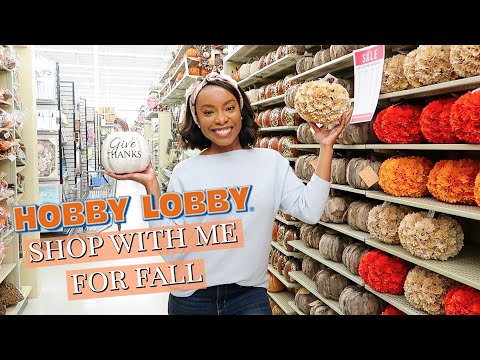 GETTING READY FOR FALL!! 🍁HOBBY LOBBY FALL SHOP WITH ME + FALL HOME DECOR IDEAS 2019