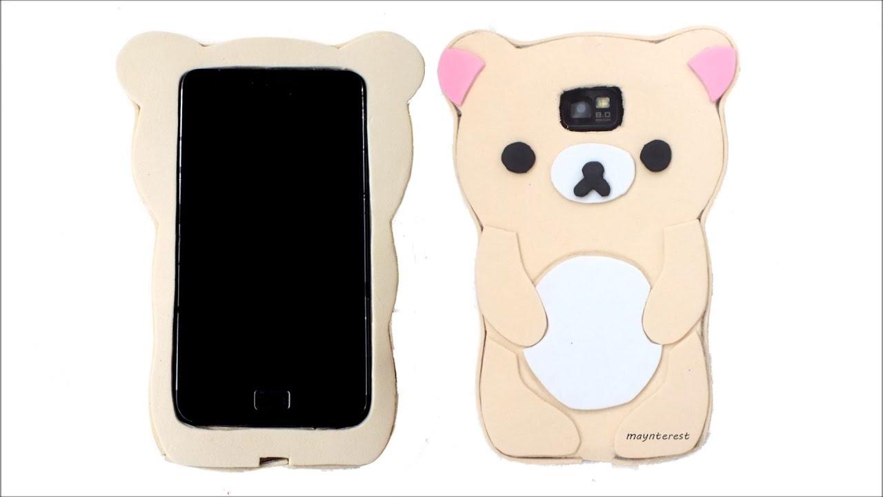 Diy how to make a korilakkuma rilakkuma phone case ka for How to make a homemade phone case