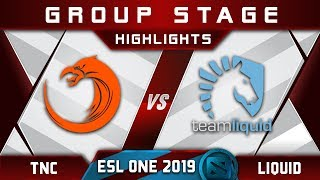 TNC vs Liquid [GREAT] ESL One Hamburg 2019 Highlights Dota 2