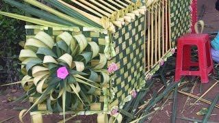 Hướng dẫn làm cổng cưới Miền Tây bằng lá dừa phần 2 - Làm hoa hồng lớn