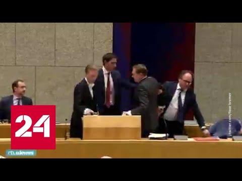 Глава Минздрава Нидерландов упал в обморок во время дебатов о коронавирусе - Россия 24