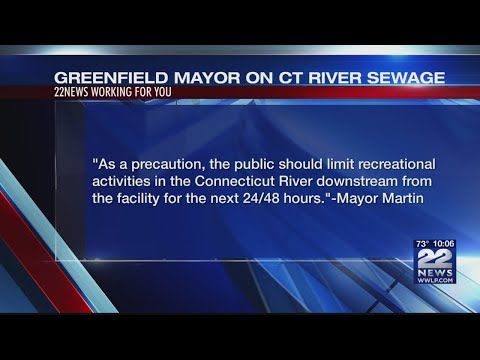 Untreated sewage discharged into CT River in Greenfield