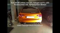 Audi A4 B8 Umbau Auf Facelift Rückleuchten Mit Dynamischen Blinker