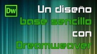 Un diseño base sencillo con Dreamweaver