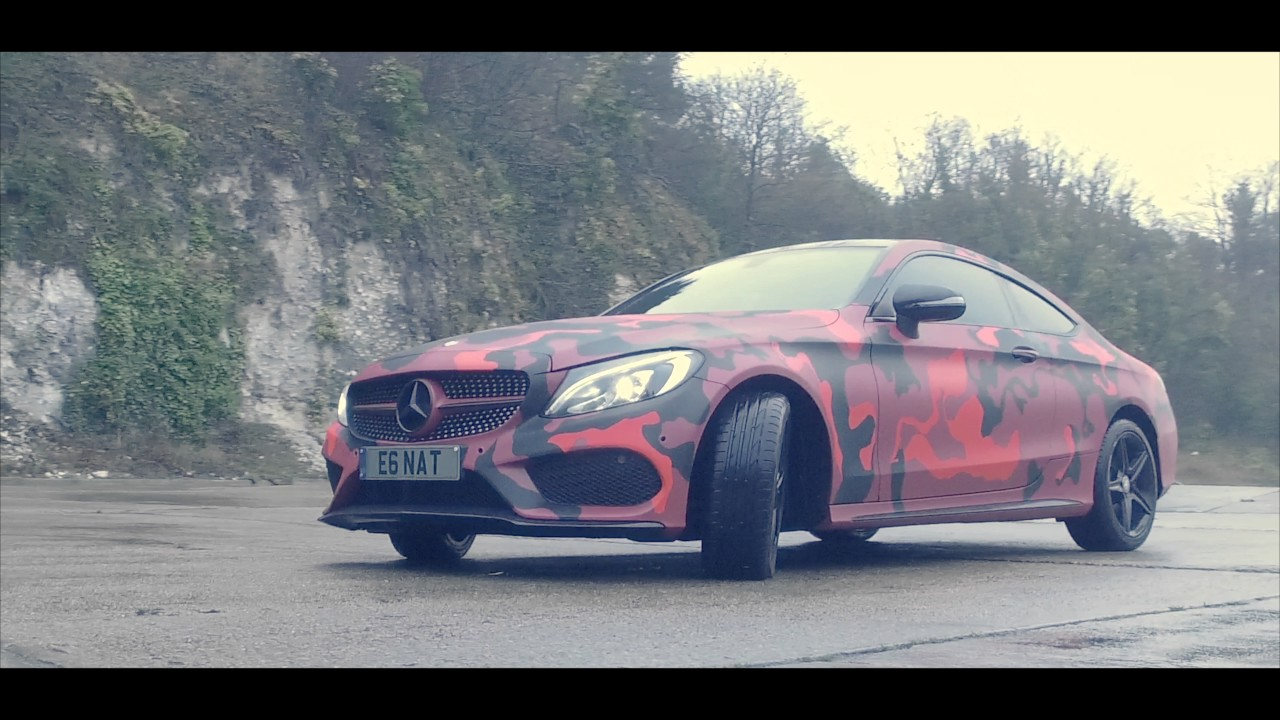 Cla 250 Coupe >> 2016 MERCEDES C CLASS COUPE IN RED CAMO 4K - YouTube