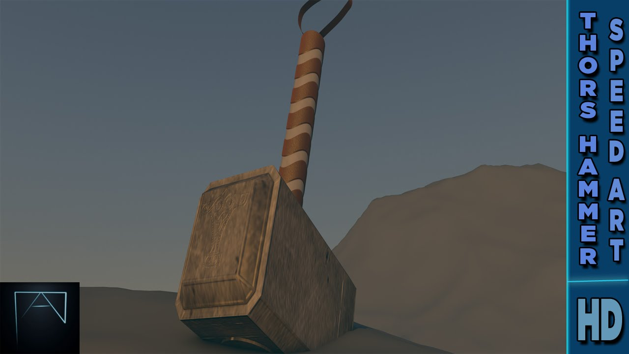 thors hammer 3d speed art marvel cinema 4d youtube