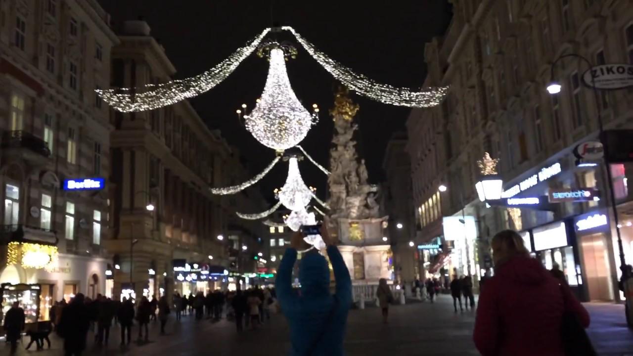 Weihnachtsmarkt Wien Eröffnung.Christmas Market 2018 Vienna Wien Weihnachtsmarkt Targ Craciun Viena
