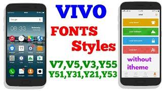 CHANGE FONTS IN VIVO V3,V5 ,Y51L, Y31L,Y21L