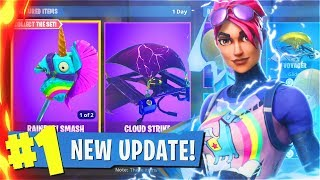 New BATTLE PASS + RAINBOW SMASH Fortnite Update! Insane SQUADS Win Streak With My Little Brother!