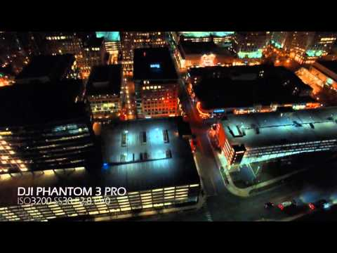 EPIC UAV Night time Flight DJI Phantom 3 Pro 4K Drone Aerial Video Low Light Settings FPV Quadcopter
