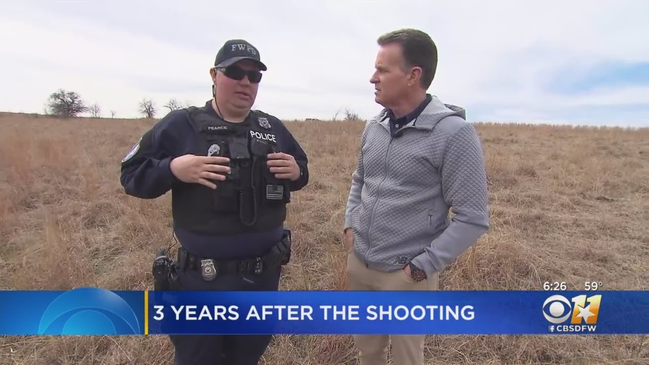 7013236fa874a Fort Worth Officer Matt Pearce Revisits Spot Where He Was Almost Killed 3  Years Ago