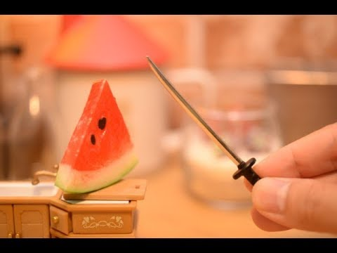 Stopmotion Cooking-WATERMELON!-Miniature/ASMR