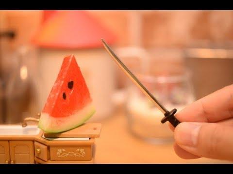Stopmotion Cooking-WATERMELON!-Miniature/ASMR