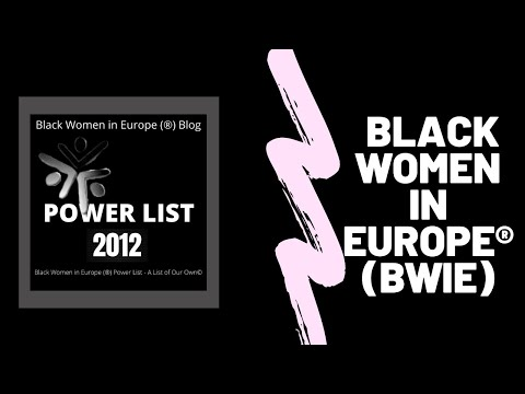 2012 Black Women In Europe™ Power List