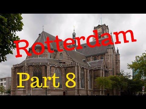 Rotterdam, The Netherlands.. City Tour (Part8/12) Grote Sint Laurenskerk (4K)